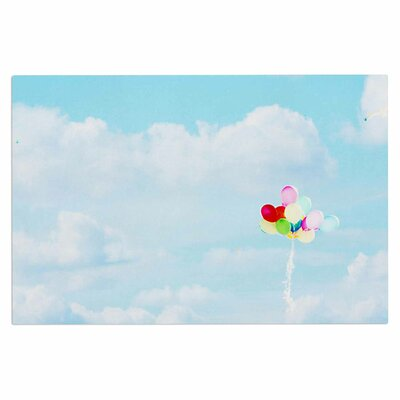 Balloons in the Sky Photography Kids Decorative Doormat
