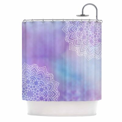 Something Purple Digital Shower Curtain