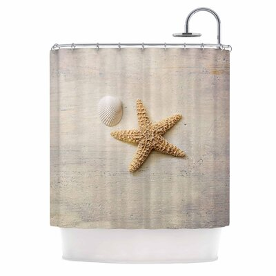 Starfish and Shell Shower Curtain