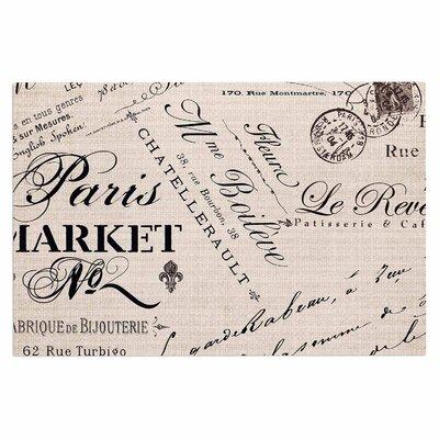 French Script Handwriting Decorative Doormat
