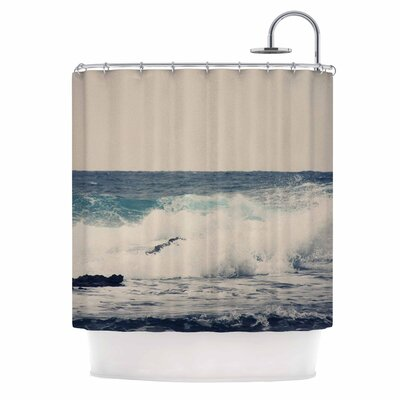 Ocean Blue 1 Coastal Shower Curtain
