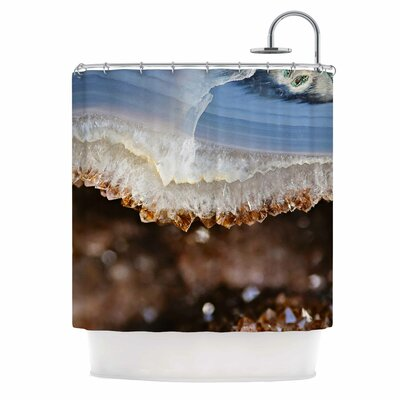 Blue and Brown Quartz Nature Photography Shower Curtain