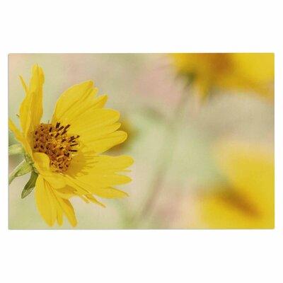 Abstract Yellow Flowers Doormat