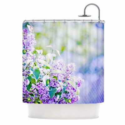 Hazy Purple Flowers Nature Shower Curtain