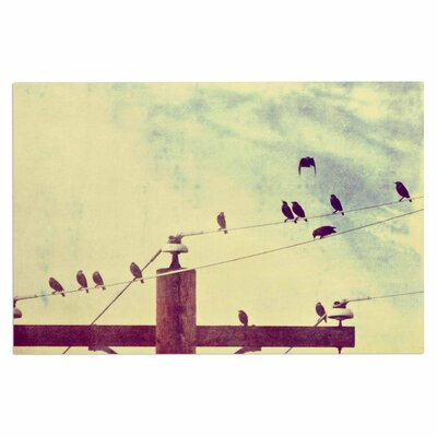 Vintage Birds on a Wire 1 Vintage Decorative Doormat