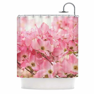 Pink Dogwood Photography Shower Curtain
