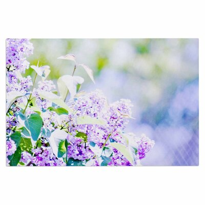 Hazy Purple Flowers Doormat