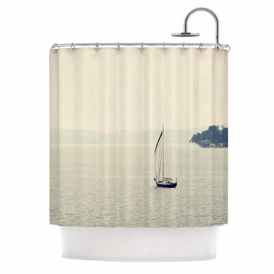 Hazy Sea Travel Shower Curtain