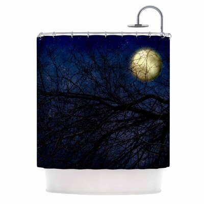 Blue Moon Celestial Shower Curtain