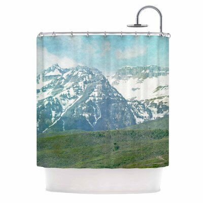 Pastel Mountains Nature Shower Curtain