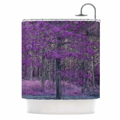 Purple Tree Photography Shower Curtain