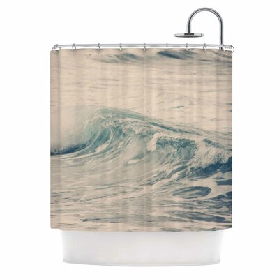 Waves 1 Coastal Shower Curtain