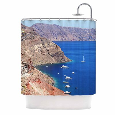 Santorini Coastline Shower Curtain