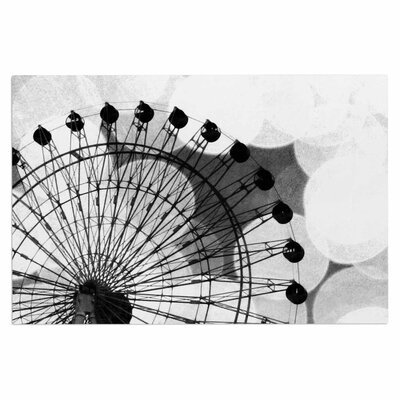 Black and White Ferris Wheel Doormat