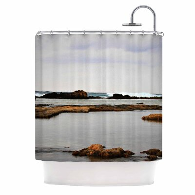 Dark Sea Coastal Shower Curtain
