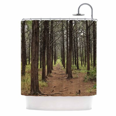 Parallel Forest Photography Shower Curtain