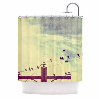 Vintage Birds on a Wire 1 Vintage Shower Curtain