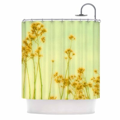 Abstract Yellow Wild Flowers Shower Curtain
