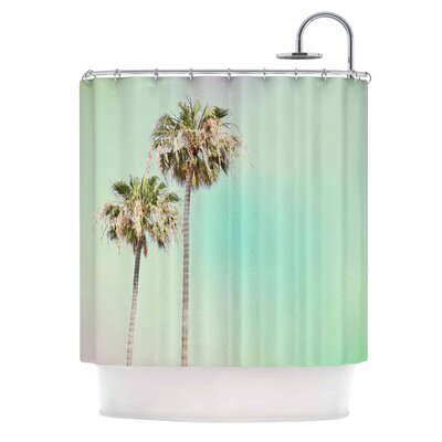 Pastel Palm Trees Photography Shower Curtain