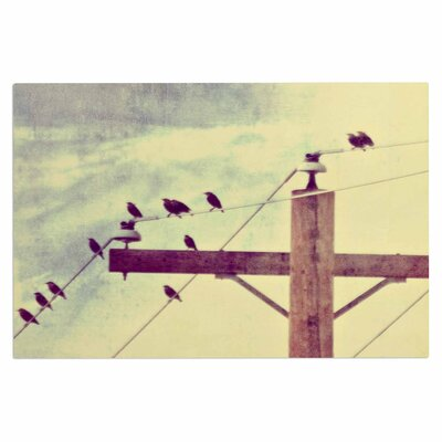 Vintage Birds on a Wire 2 Doormat
