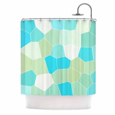 Aqua and Sage Shower Curtain