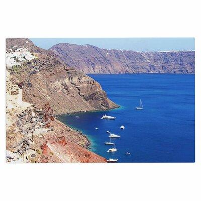 Santorini Coastline Doormat