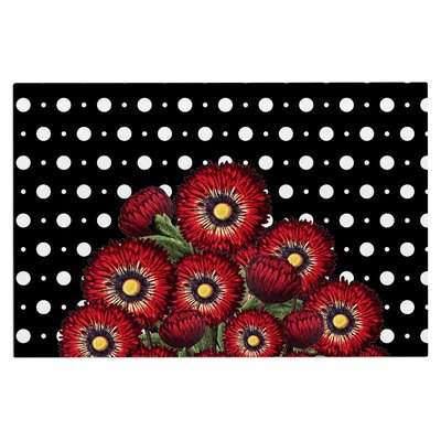 Spring Pattern Floral Red Doormat