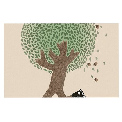 Run for Your Life Tree Illustration Decorative Doormat