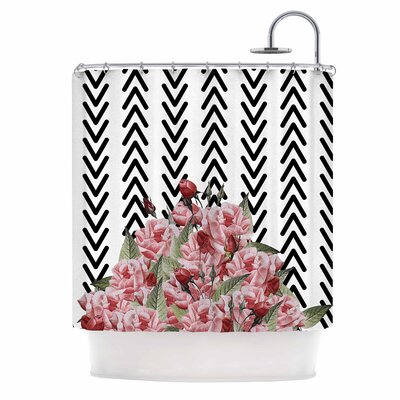 Spring Pattern Arrow Pink Illustration Shower Curtain