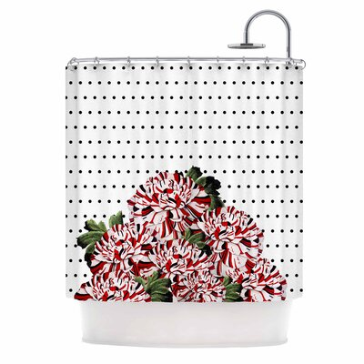 Spring Pattern Floral Mixed Illustration Shower Curtain