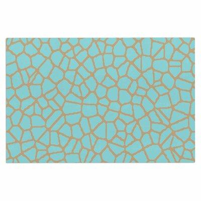 Staklo Doormat Color: Aqua/Brown