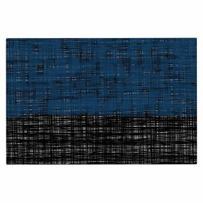 Platno Doormat Color: Blue/Black