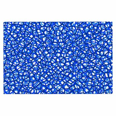 Staklo Doormat Color: Blue/White
