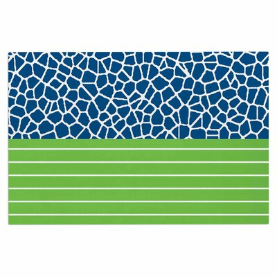 Staklo Doormat Color: Green/Blue