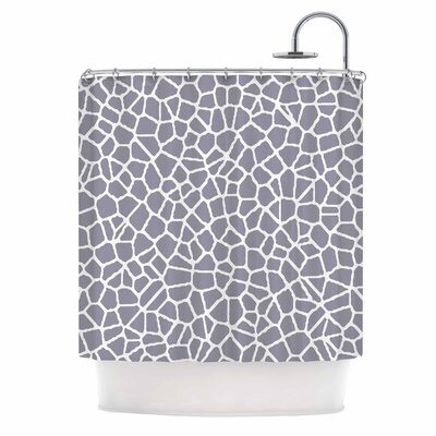 Staklo Shower Curtain Color: Gray/White