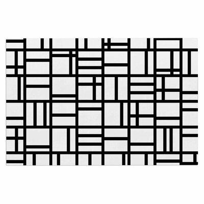 Kutije Doormat Color: Black/White