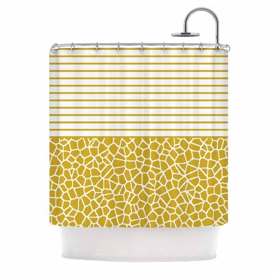 Staklo (Gold) Digital Shower Curtain