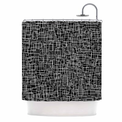 Komada Shower Curtain Color: Black