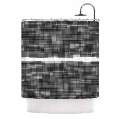 Plima Shower Curtain Color: Black/White