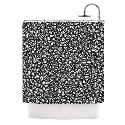 Staklo Digital Shower Curtain Color: Gray/Black