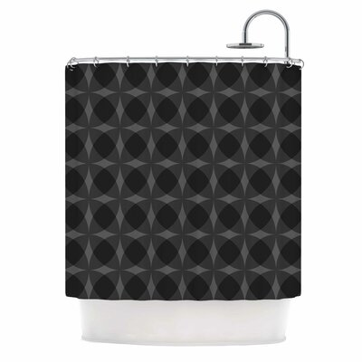 Denuti (Black) Digital Shower Curtain