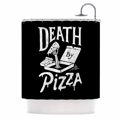 Death By Pizza Food Shower Curtain