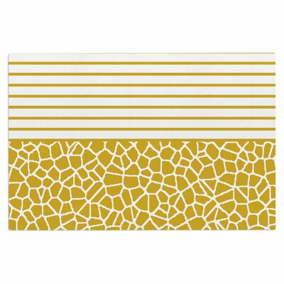 Staklo Doormat Color: Gold/White