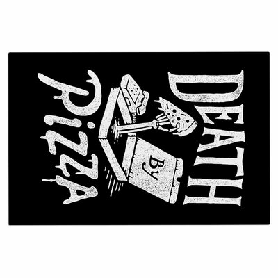 Death by Pizza Food Decorative Doormat