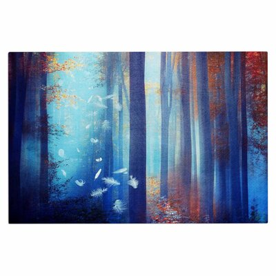 Dreams in Blue Trees Decorative Doormat