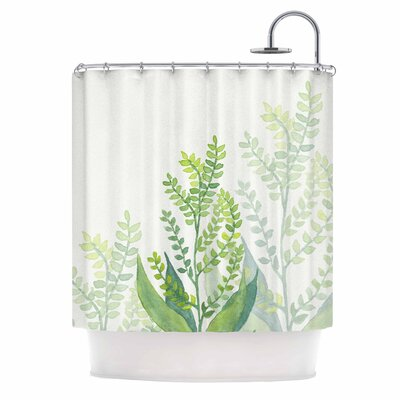 Botanical Vibes 06 Digital Shower Curtain