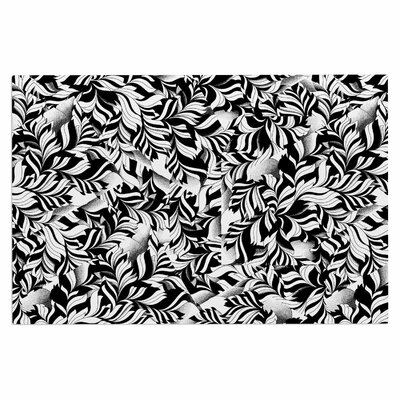Monochrome Leaves Mosaic Doormat