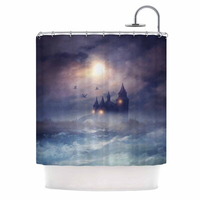 Sunset I C. III Illustration Shower Curtain