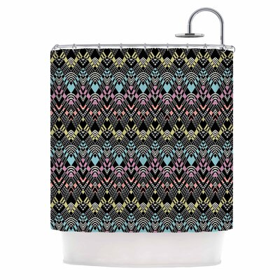 Tribal Zigzag Digital Shower Curtain