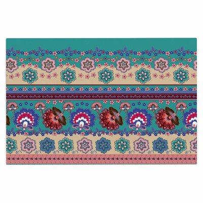 Folkloric Flowers Border Doormat